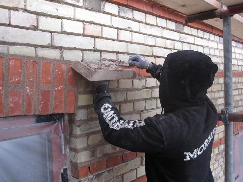 Murning i samband med renovering på sturegatan 18