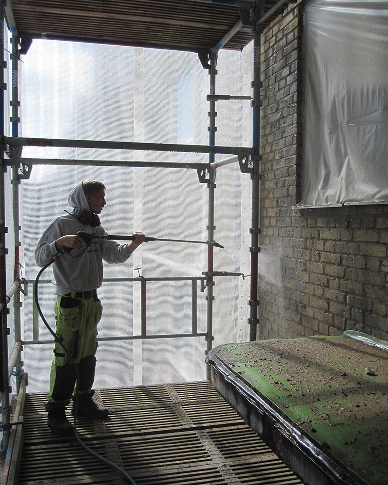 Fasadtvätt genomförs på abbekåsgatan