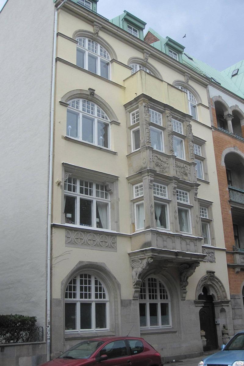 fasaden på stora nygatan 65 innan renoveringen