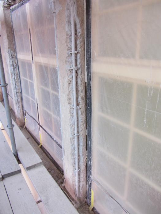 Möjning vid betonglagning under arbetet med fasadrenovering i helsingborg